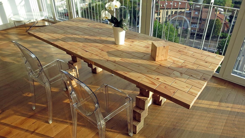 Tavolo scarto d3wood for Componenti di arredo